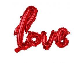 balonek love 68x46cm folie 3 zavesne otvory cervena skladem