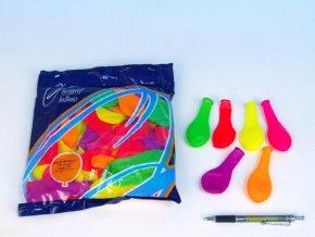"""Balonek/Balonky nafukovací 7"""" párty neon 100 ks skladem"""