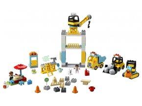 LEGO Duplo Stavba s věžovým jeřábem