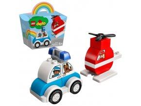 LEGO Duplo Hasičský vrtulník a policejní auto