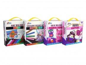Kreativní box pletení, mozaika, lepení, bambule skladem