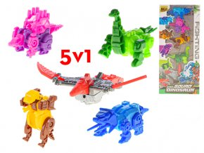 robot dinosaurus 6 5 12cm 5ks v krabicce