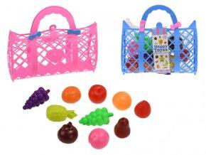 kabelka 22x13cm s ovocem 10ks 2barvy