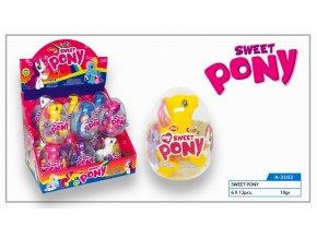 Sweet Pony Plastové vajíčko s dětskou hračkou a dražé
