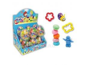 Vajíčko plastové s hračkou a lentilkami 10g - Kids Dough Toy
