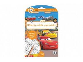 Křížovky, sudoku, osmisměrky s tužkou Auta/Cars 15x21cm