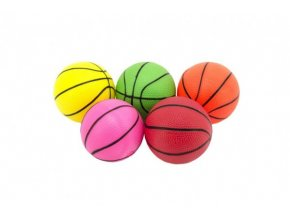 Míček basketbal guma 8,5cm 5 barev skladem
