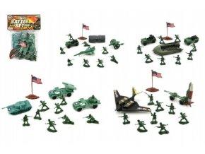 Sada vojáci plast asst 4 druhy v sáčku 18x23x4cm