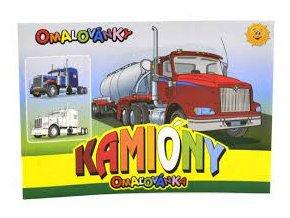 omalovanky a5 kamiony