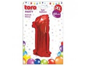 balonek xl cislice 1 60cm matne cervena