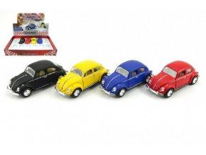 Auto Kinsmart VW Classical Beetle kov 13cm na zpětné natažení asst 4 barvy (1 ks) skladem