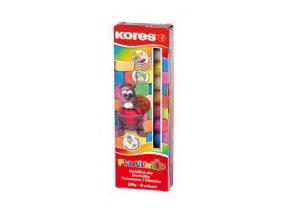 plastelina 10 barev 200g v krabicce kores