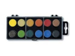 barvy vodove 22 5mm 12 cerne skladem