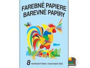 papiry barevne nelepici 8 listu skladem