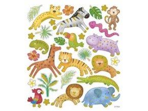 samolepky detske safari skladem