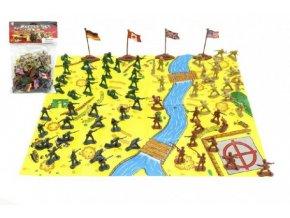 Vojáci s mapou a doplňky plast mix z v sáčku