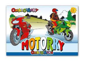 omalovanky a5 motorky