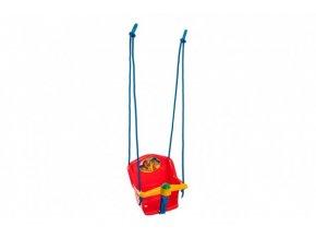 Houpačka Baby s pískátkem plast červená nosnost 20kg 35x34x35cm