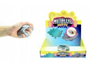 Hmota/modelína 90g inteligentní metalická 8cm v plastové krabičce 18ks v boxu