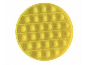 Pop It hra - žlutý kruh