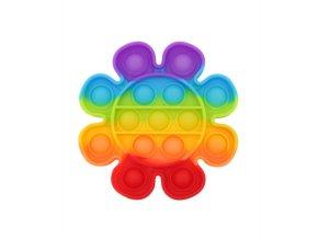 bubble pop it kvetina duhova rainbow