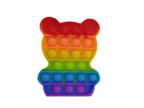 bubble pop it medvidek teddy bear duhovy