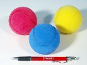Soft míč na soft tenis pěnový průměr 7cm asst 3 barvy skladem