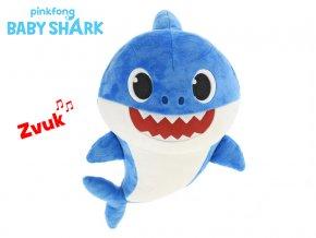 baby shark plysovy 28cm modry na baterie se zvukem skladem