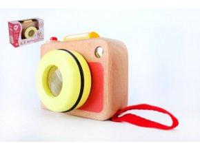Fotoaparát/Foťák dřevo v krabičce 13x8,5x5,5cm 10m+