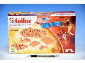 Stavebnice Teifoc Cihličky 100ks v krabici skladem