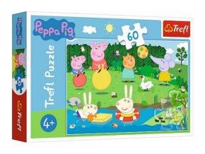 Puzzle Prasátko Peppa/Peppa Pig Prázdninová zábava 33x22cm 60 dílků skladem