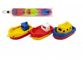 Loď/Člun do vody 3ks plast 14cm v sáčku 12m+
