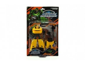 Transformer auto/robot plast 18cm asst 2 barvy na kartě