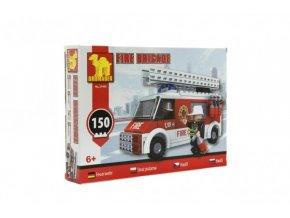 Stavebnice Dromader Hasiči Auto 21402 150ks v krabici 25,5x18,5x4,5cm
