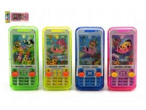 Vodní hra hlavolam mobil plast 11x5cm 4 barvy skladem