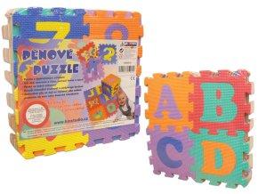 Pěnové puzzle 15x15 36 ks (písmena+čísla)
