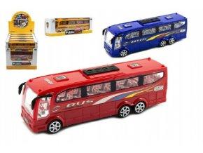 Autobus plast 25cm na setrvačník mix z 3 barvy v krabici