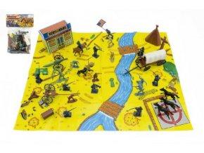 Indiáni s mapou a doplňky plast v sáčku 21,5x32x3cm