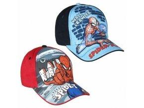 Kšiltovka Spiderman modrá/červená