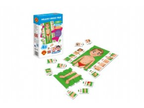 Hra školou® Skládej lidské tělo kreativní a naučná hra v krabici 16x25x5cm 4+