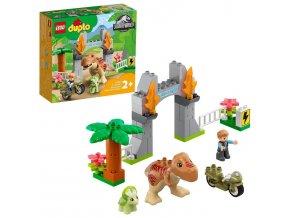 LEGO Duplo T-rex atriceratops na útěku
