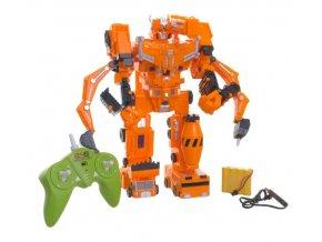 Robot/transformer RC plast 33cm na baterie/USB se zvukem a světlem