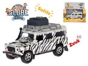 Auto Land Rover safari 14cm kov na zpětný chod na baterie