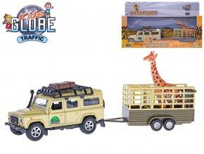 Land Rover Defender 14cm kov na zpětný chod s přívěsem 14cm a žirafou