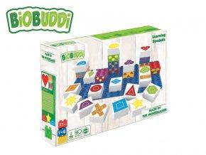 BiOBUDDi stavebnice Learning Symbols Young Ones tvary 26ks + 1ks základní deska 18m+