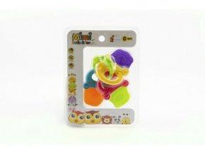 Chrastítko/kousátko klíče plast 12cm na kartě 0m+
