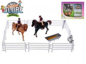 Koníci s jezdci 13cm 2ks s doplňky