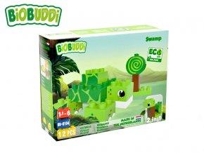 BiOBUDDi stavebnice Wildlife Swamp 2v1 želva/šnek 12ks 18m+