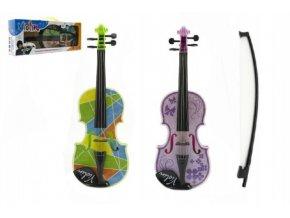Housle/Viola plast 40cm na baterie se zvukem se světlem mix z 3 barvy v krabici