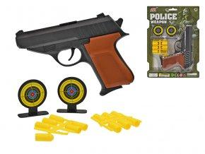 Pistole 16cm s gumovými náboji a doplňky